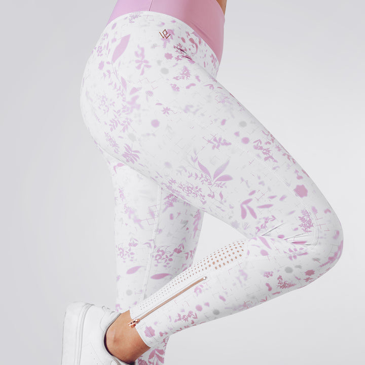 Strong is Female Floral Leggings
