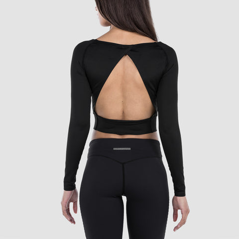 Cropped Long Sleeve Obsidian