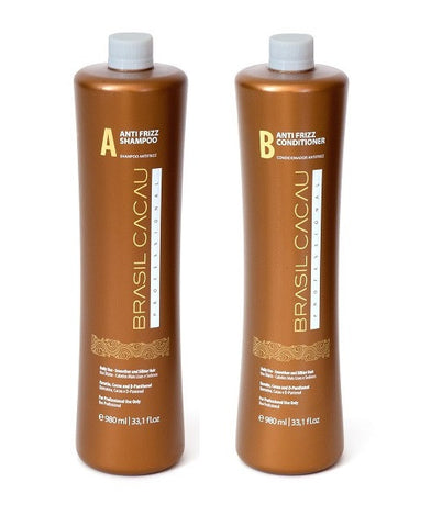 Brasil Cacau Anti Frizz Shampoo & Conditioner Set