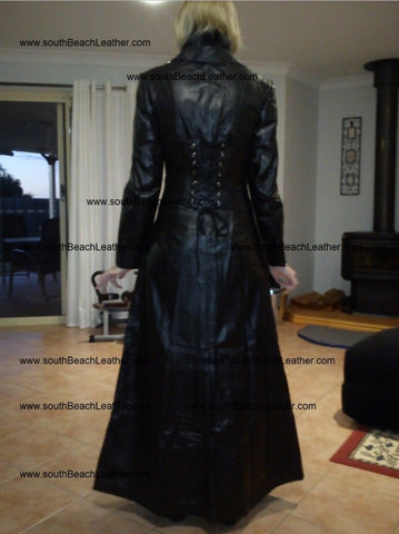 women long black coat