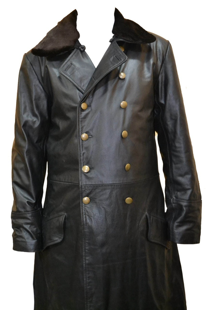 World War 2 German Waffen Elite Leather Long Coat