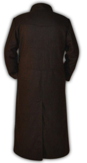 Mens Black Trendy Designers Woolen Long Coat