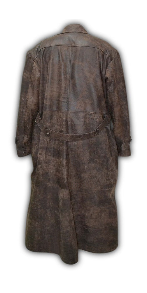 Harry Potter And the Chamber Of Secrets Hagrid Distressed Leather Long Coat