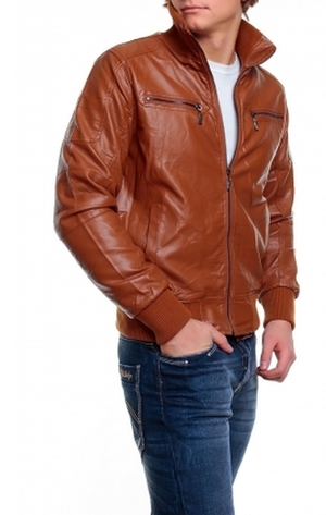 Men's Aviator Brown Designer Leather Jacket