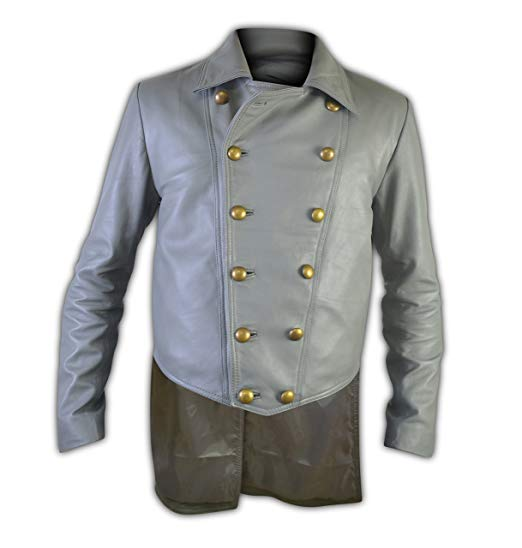 3:10 To Yuma Grey Prince Charlie Ben Foster Leather Jacket