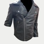 Mad Max 2 Road Warriors Jacket Mens Movie Tom Hardy Leather Jacket with Removable Zipper Sleeves