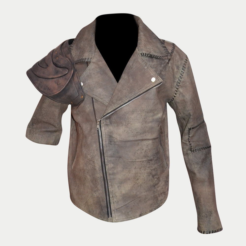 Mad Max Road Warrior Leather Jacket And MFP Leather Pant Complete Suit