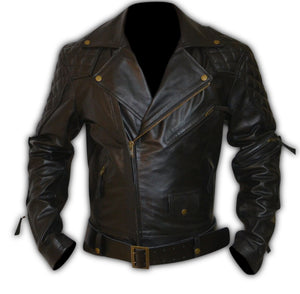 Columbia Motorbike Quilted Biker Leather Jacket
