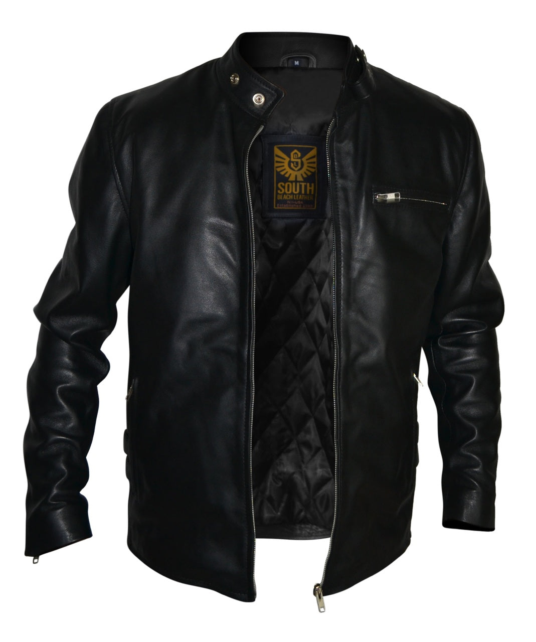Mens Designer Motorcycle Racer Leather Jacket