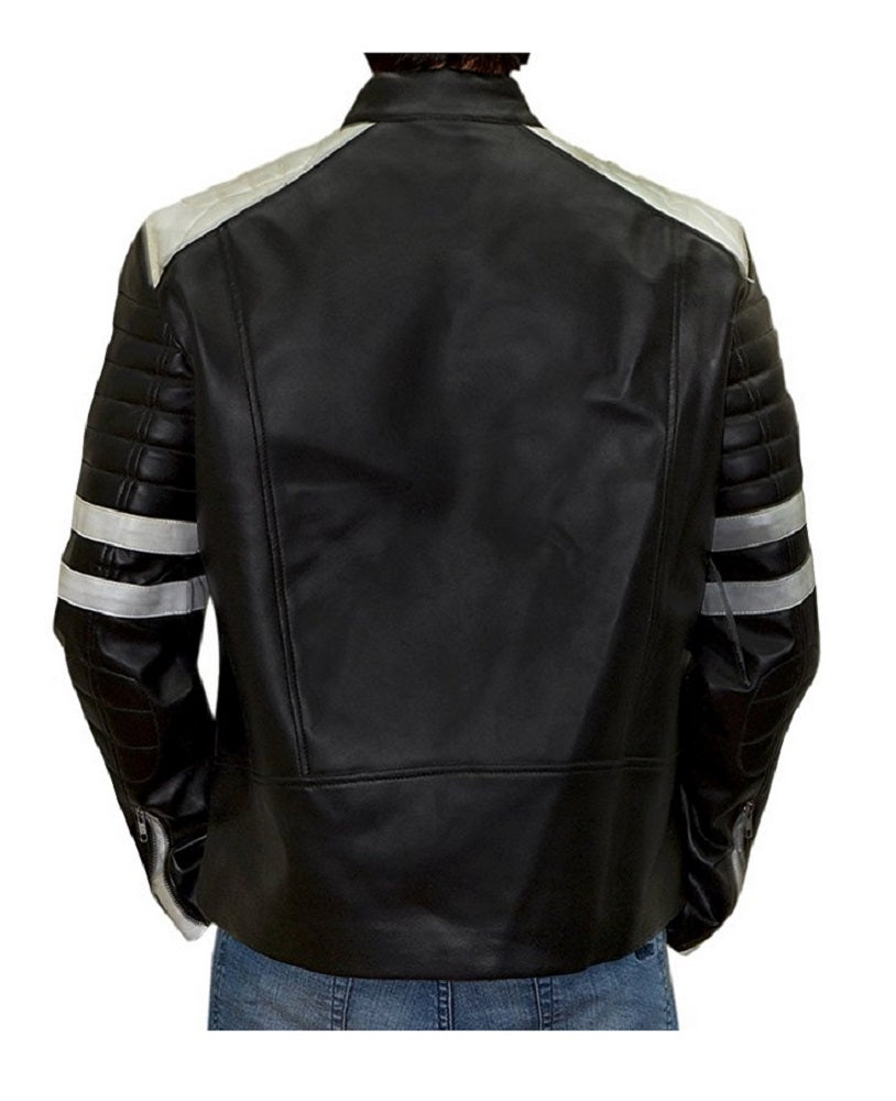 Fight Club Hybrid Mayhem Tyler Durden Brad Pitt Leather Jacket