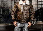 Men's   Air Force fly B3 flight  Genuine Fur Collar Leather Jacket