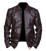 Men's The Luftwaffe German Air Force Brown Leather Jacket