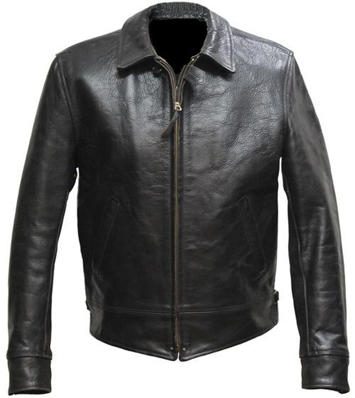 Men's Designer Casual Style Black Leather Jacket