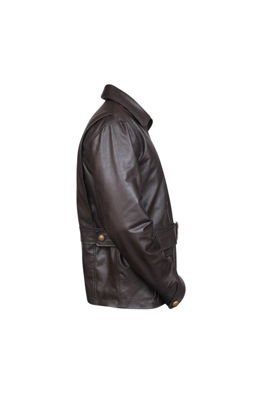 Men's Designer Casual Brown Blazer Style Leather Jacket