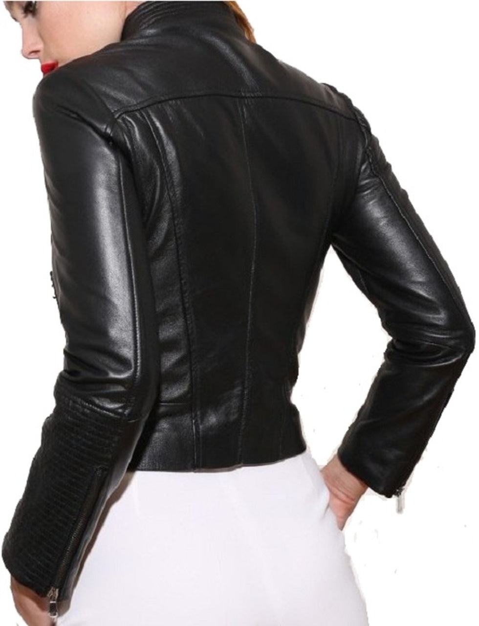 Women's Style Biker Black Leather Jacket