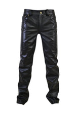 5 Pocket Jeans Style Leather Pant