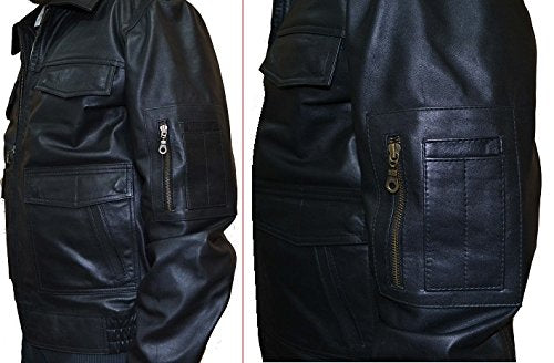 German Leather Police Jacket Deutsch Polizei Lederjacke
