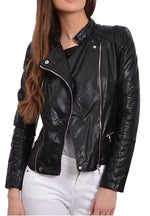 Women Designer Biker Leather Jacket
