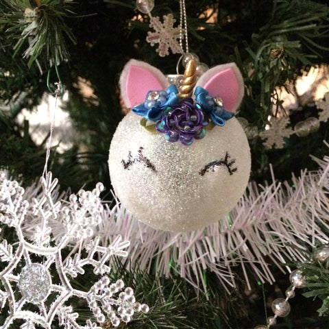 DIY Unicorn Christmas Ornaments