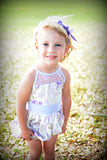 Purple & White Toddler Romper - Rose Wisteria