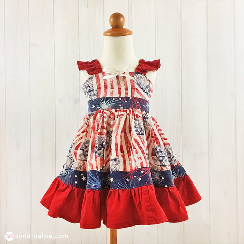 Patriotic Princess 4th of July Toddler Girl Dress
