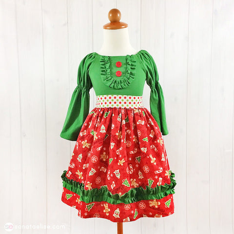 Cookies for Santa Christmas Toddler Girl Dress