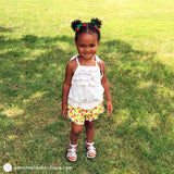 Toddler Ruffle Shorts - Cherries & Lace