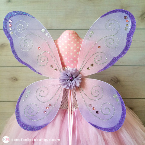 Pink & Purple Fairy Wings