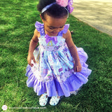 Pink & Purple Toddler Girl Dress - Pretty in Paris