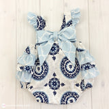 Pretty Sailor Bella Ruffled Romper