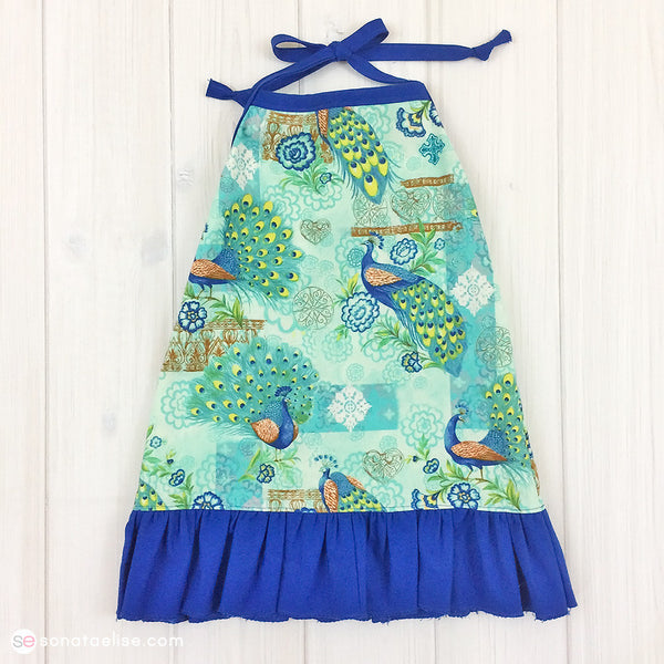 Toddler Sun Dress - Peacock Halter Dress