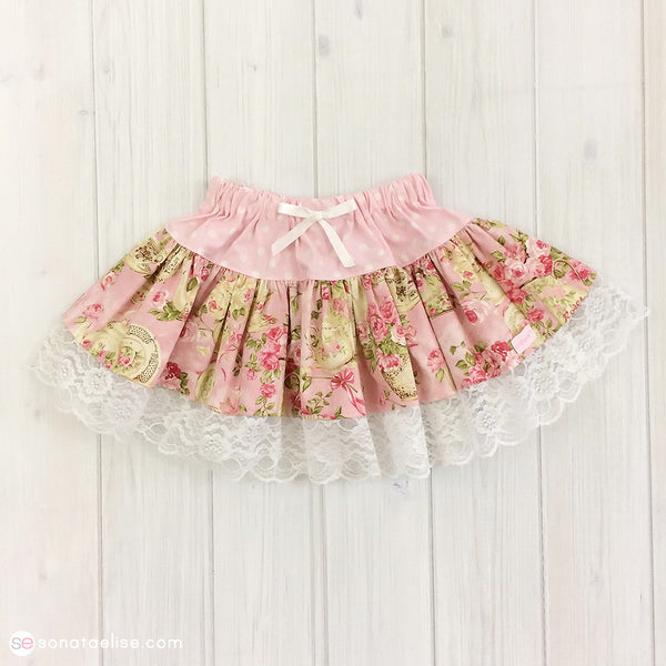 Toddler Skirt - Rose Garden Tea Twirl