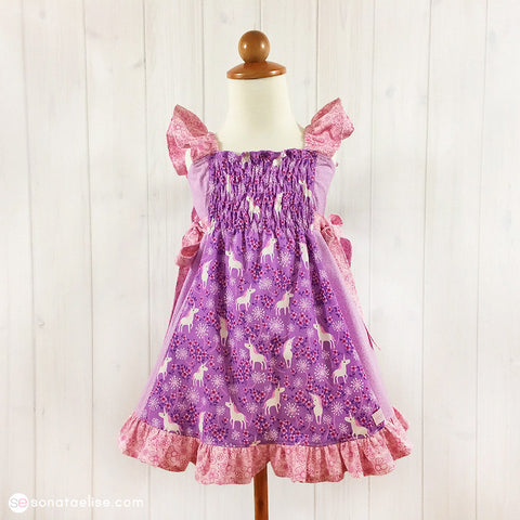 Pretty Unicorns Toddler Dress