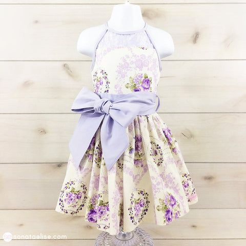 Purple & White Toddler Dress