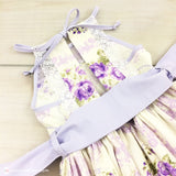 Purple & White Toddler Dress - Rose Wisteria