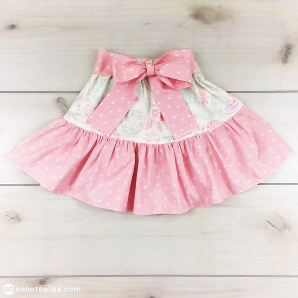 Toddler Skirt - Spring Meadow Twirl