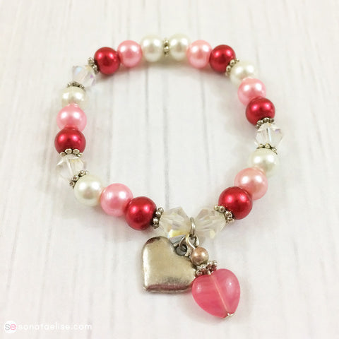 Toddler Girl Valentine's Day Bracelet