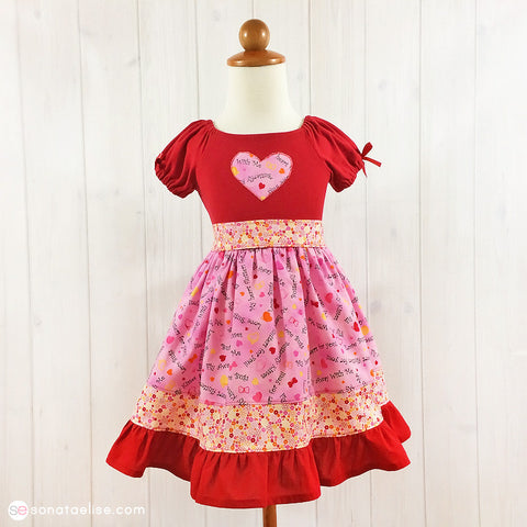 Butterfly Kisses Valentine's Day Toddler Girl Dress