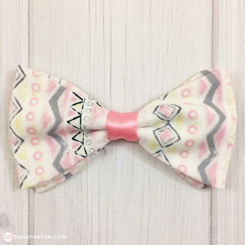 Pink & White Hair Bow
