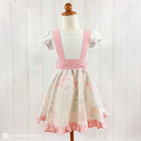 Spring Meadow Toddler Girl Suspender Skirt