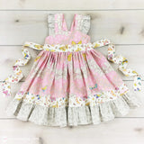 Pink & White Butterfly Toddler Dress