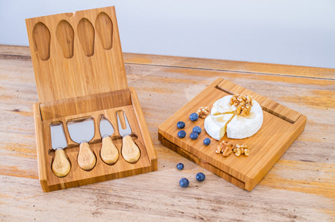 Lux Bamboo 4 Piece Cheese Knife Set - Lux Lane