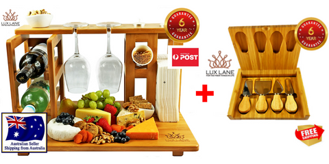 The Ultimate Value Bundle- Cheese Board+ Knife Set. On SALE 40% OFF