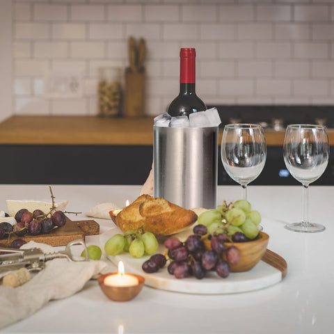 Wine Cooler- Ice Bucket Double Wall Stainless Steel - Lux Lane