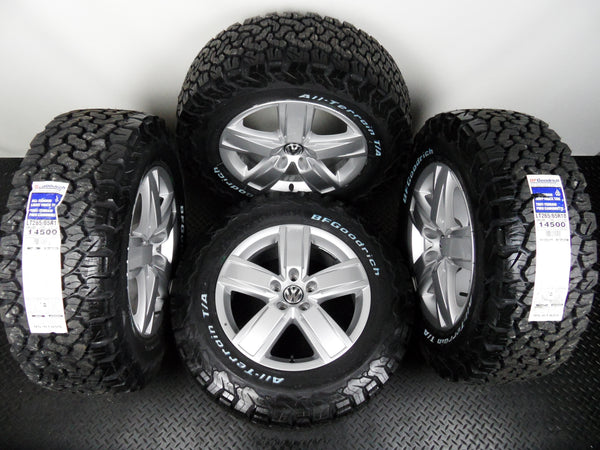 "Genuine Set Of VW Amarok 18"" Alloy Wheels With Fitted BF Goodrich AT KO2 Tyres"