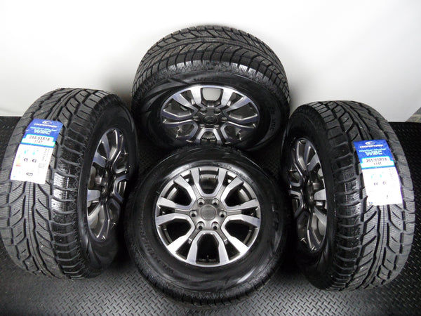 "Genuine Set Of Four 18"" Ford Ranger WildTrack Alloy Wheels With New Cooper Winter Tyres"