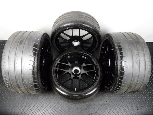 "Genuine 19"" Porsche 911 997 GT3 RS Alloy Wheels Center Lock with Michelin Tyres"