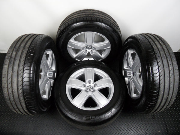 "Genuine Set Of VW Amarok 18"" Alloy Wheels With Fitted Continental Tyres"