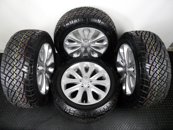 "Range Rover Sport 20"" Style 502 Silver Alloy Wheels General Grabber AT Tyres"