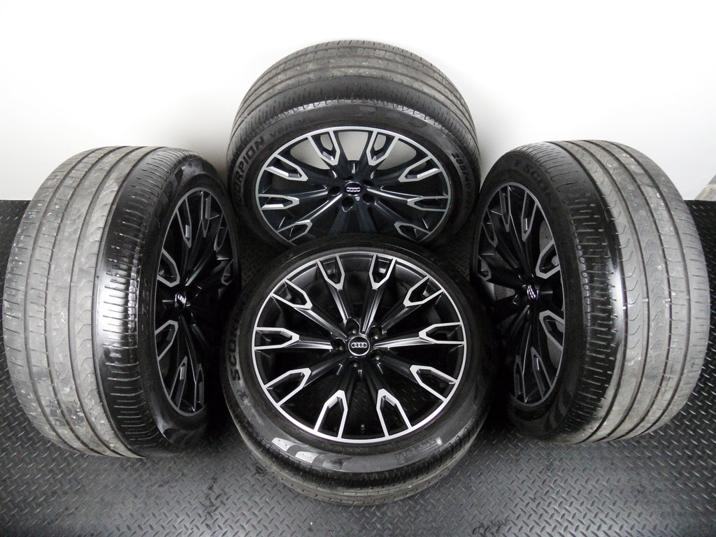 "Genuine Set Of Four OE 21"" Audi SQ7 New Shape 2015> Alloy Wheels Pirelli Tyres"